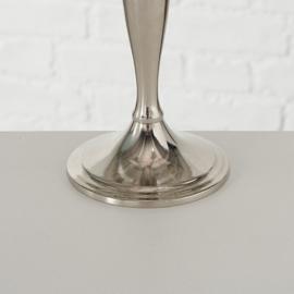Kandelaar - 26 cm - Zilver - Aluminium - 5 kaars houders - Ø 22.5 cm