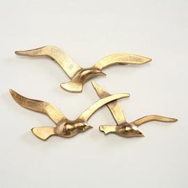 Wand - Decoratie - Vogels - Goud - 35 cm