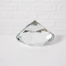 Diamant  - Ø 10cm - Glas - Decoratie