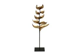 Kandelaar - plant model - 9 waxinehouder - Metaal - Goud - Zwart  - 102 cm