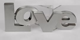 LOVE - Hart - Valentijn - Zilver - 33 cm - Liefde