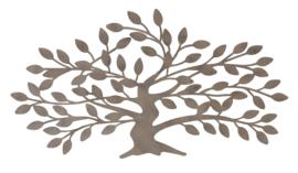 Wanddecoratie - Muur decoratie - 38 x 70 x 1 cm - Levensboom - Bruin - Metaal - 1427