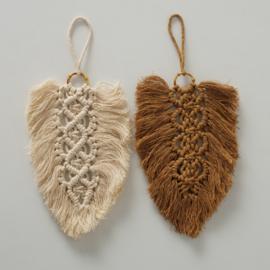 Decoratie kleed - 2 set - 25cm - Bruin - Créme