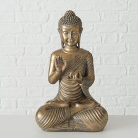Buddha - Bruin/goud - 39cm - Boeddha
