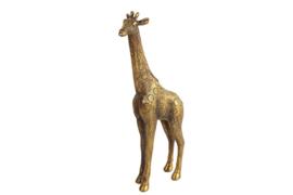 Giraf - Polyserin- goud - 31.5cm - Beeld - Decoratie