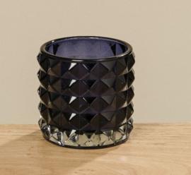 Windlichten - 3 set - Glas - 10 cm  - Ø 8.5 cm