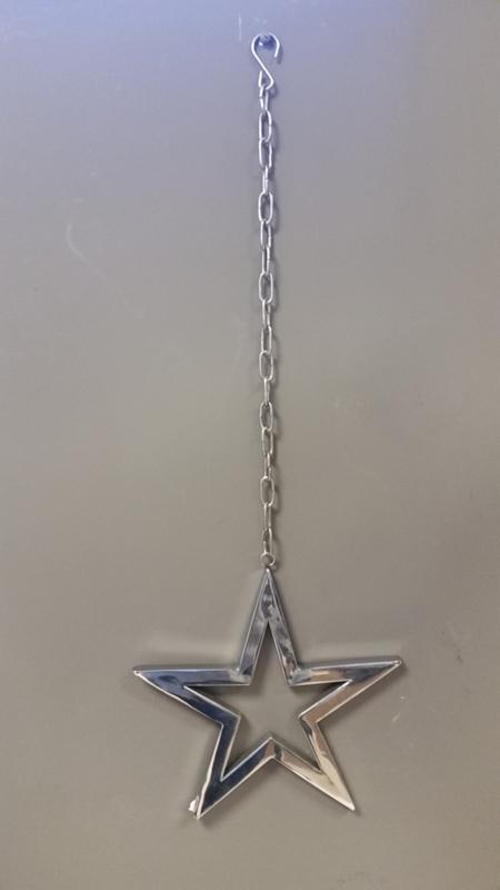 Hanger - Ster - Zilver - 60 cm - Ø 20cm