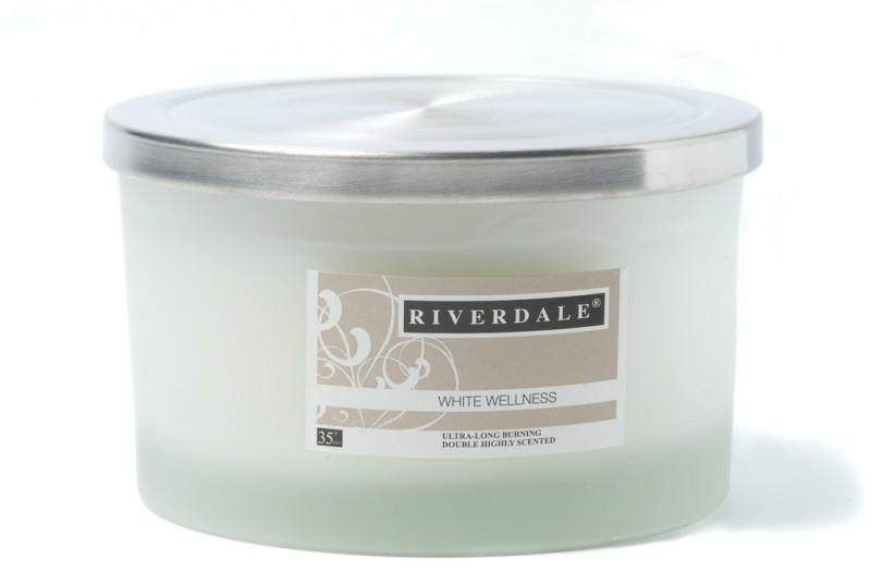 Riverdale geurkaars White Wellness 35+