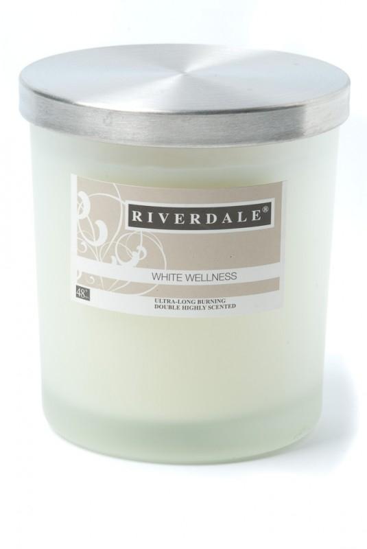 Riverdale geurkaars White Wellness 48+