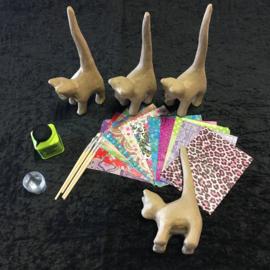 Knutselpakket Decopatch - Kleurrijke Katten - 4 / 6 / 10 personen