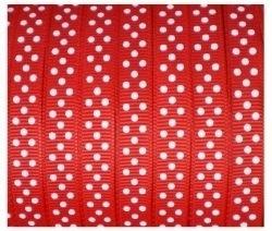 Lint - gestipt - rood - 10 mm - 1 meter