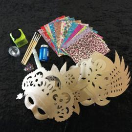 Knutselpakket Decopatch - Mooie Maskers - 4 / 6 / 10 personen