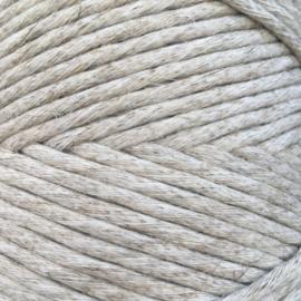 Enkele twist koord linnen 4,5 mm - 100 m - crème gemêleerd
