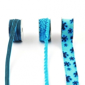 Lint - combinatie van blauw - 3x1 meter
