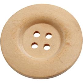 Houten knopen - 4 cm  - set van 5