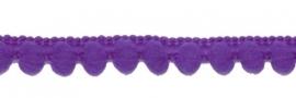 Bolletjesband - paars - 1 meter