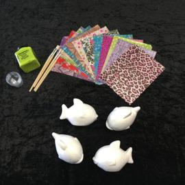 Knutselpakket Decopatch - Vrolijke Vissen - 4 / 6 / 10 personen