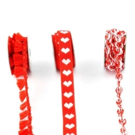 Lint - combinatie van rood - 3x1 meter