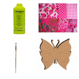 Knutselpakket Decopatch - Vlinder - 8 personen