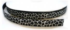 Lint - Dier - giraf zwart&wit - 9 mm - 1 meter