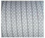 Lint - gestipt - grijs - 10 mm - 1 meter