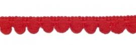 Bolletjesband - rood - 1 meter