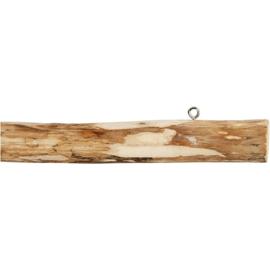 Houten stok met ophangoogjes - 40 cm  - macramé