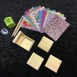Knutselpakket Decopatch - Schitterende Sieradendoosjes - 4 / 6 / 10 personen