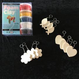 Megaknutselpakket Foam Clay - Hippe Hangers de Luxe - 12 / 24 / 36 personen