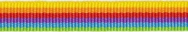 Lint - gestreept - regenboog - 10 mm - 1 meter