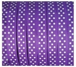 Lint - gestipt - paars - 10 mm - 1 meter