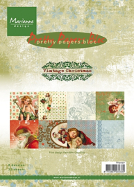 Marianne Design pretty papers bloc A5 - Vintage Christmas