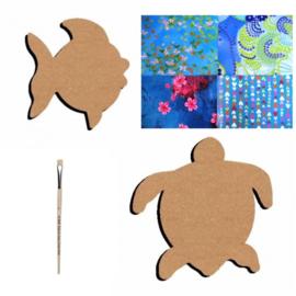 Knutselpakket Decopatch - Vis & Schildpad - 4 personen