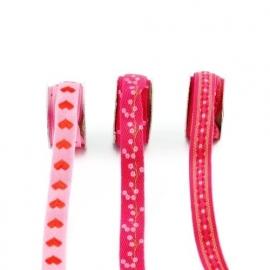 Lint - combinatie van roze - 3x1 meter