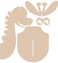 Dierenkop - giraffe / dino