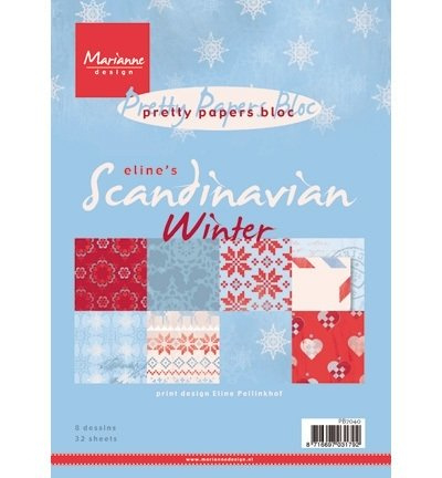 Marianne Design pretty papers bloc A5 - Scandinavian Winter