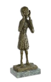 De schreeuw bronzen beeld