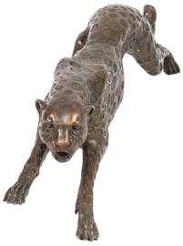 Bronzen aanvallende panter beeld