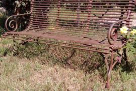 Franse smeedijzeren 3 zits tuinbank