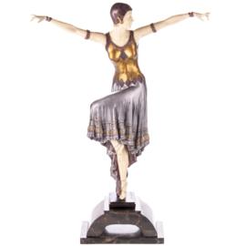 Art Deco bronzen Chiparus danseres