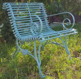 Franse Art Nouveau tuinstoel smeedijzer