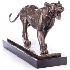 Tijger bronzen beeld