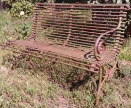 Franse smeedijzeren 2-zits tuinbank