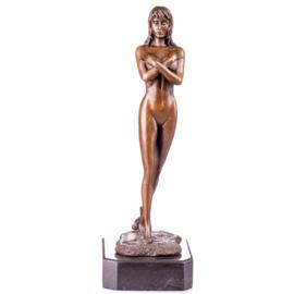 Bronzen naakte vrouw beeld