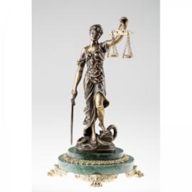 Bronzen vrouwe Justitia 39 cm