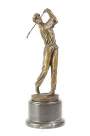 Golfspeler beeld van brons