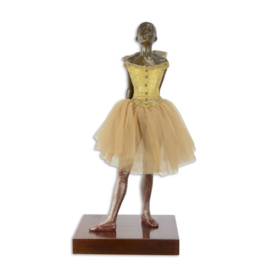 Ballerina roze tutu brons dansbeeld