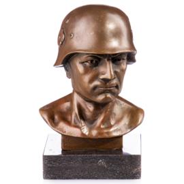 Soldaat buste bronzen beeld