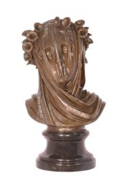 Gesluierde vrouw bronzen beeld