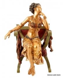Oriëntaalse buikdanseres brons beeld